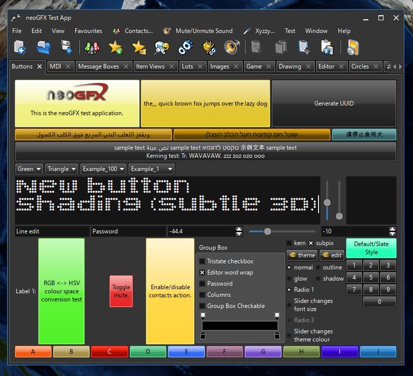 neoGFX Cross-Platform GPU-Oriented C++ GUI Library and